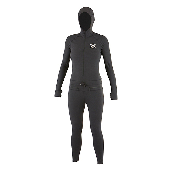 Air Blaster Classic Ninja Suit 2017 Womens Long Underwear Top, Black, 600
