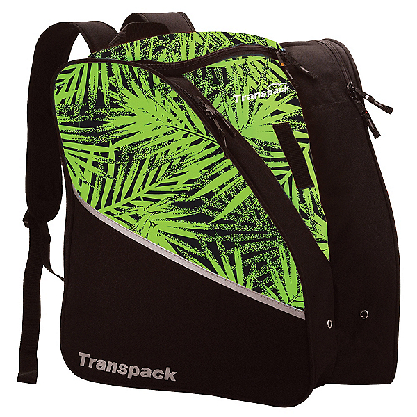 Transpack Edge Junior Ski Boot Bag 2017, Lime Palm, 600