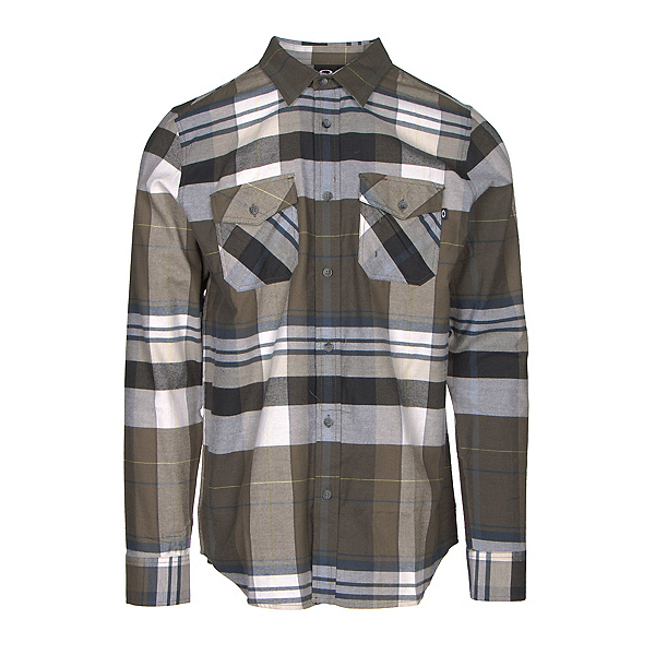 Oakley Frontier Woven Mens Flannel Shirt, , 600