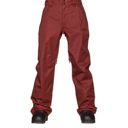 Oakley Sun King BioZone Insulated Mens Snowboard Pants, Fired Brick, 256