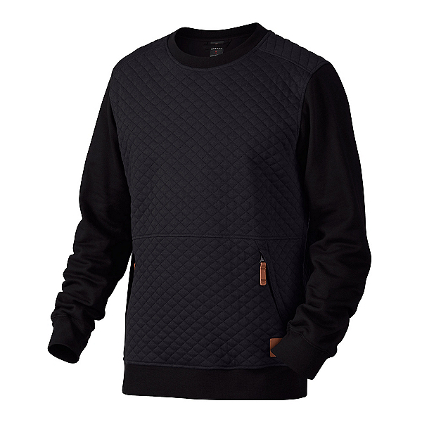 Oakley Chips Thermal Crew Mens Sweater, Jet Black, 600