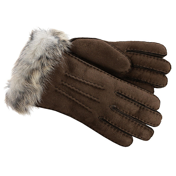 UGG 3-Point Sheepskin Toscana Womens Gloves, Chocolate M, 600