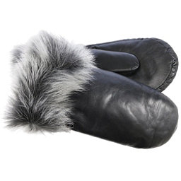 UGG Leather Womens Mitten, Black, 256