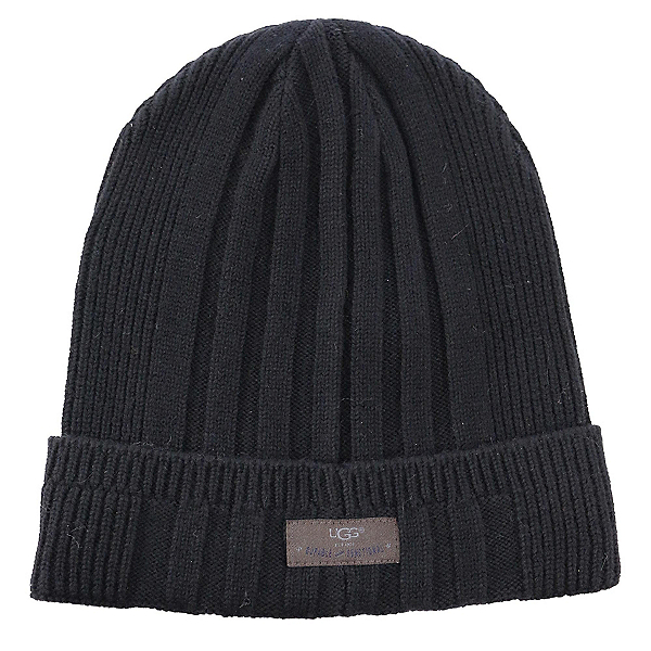 UGG Ribbed Cuff Mens Hat, Black, 600