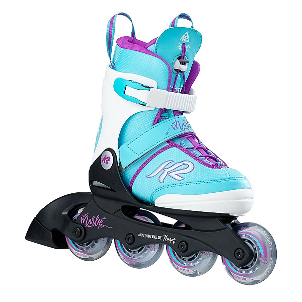 K2 Marlee Pro Adjustable Girls Inline Skates 2018, Light Blue, 600