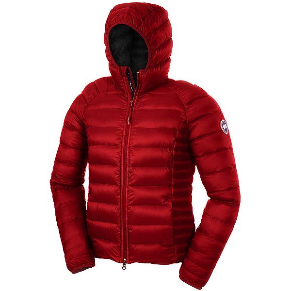 Canada Goose Brookvale Hoody Womens Jacket, Red-Black, 600