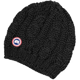 Canada Goose Chunky Cable Knit Beanie Womens Hat, Black, 256