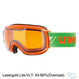 Uvex Downhill 2000 Race Goggles, Orange-Green-Lasergold Lite, 256