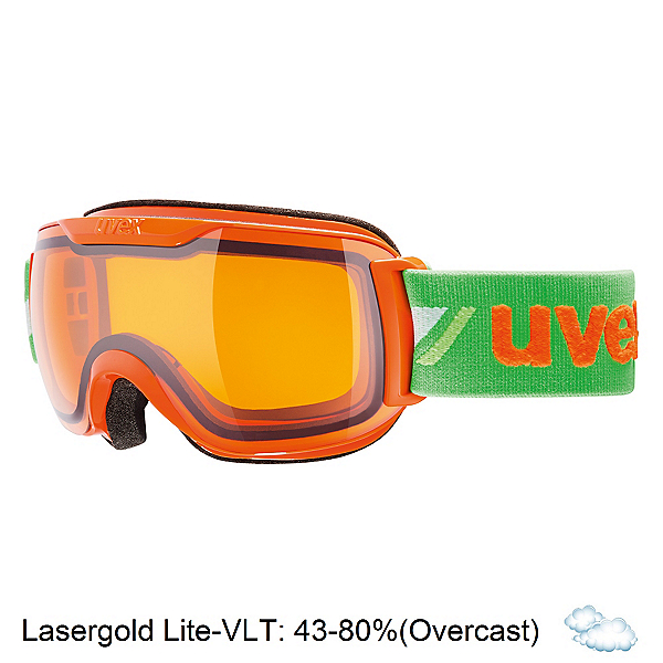 Uvex Downhill 2000 Race Goggles, Orange-Green-Lasergold Lite, 600