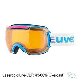 Uvex Downhill 2000 Race Goggles, Cyan-Pink-Lasergold Lite, 256