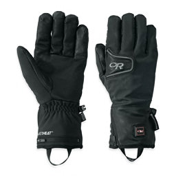 Outdoor Research StormTracker Heated Heated Gloves and Mittens, Black, 256