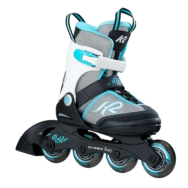 K2 Marlee Adjustable Girls Inline Skates, Silver-Blue, 600