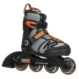 K2 Raider Adjustable Kids Inline Skates 2018, Black-Orange, 256