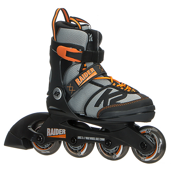 K2 Raider Adjustable Kids Inline Skates 2018, Black-Orange, 600