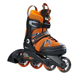 K2 Sk8 Hero X Pro Adjustable Kids Inline Skates 2017, Black-Orange, 256