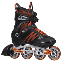 K2 F.I.T. 80 ALU Inline Skates 2017, Black-Orange, 256