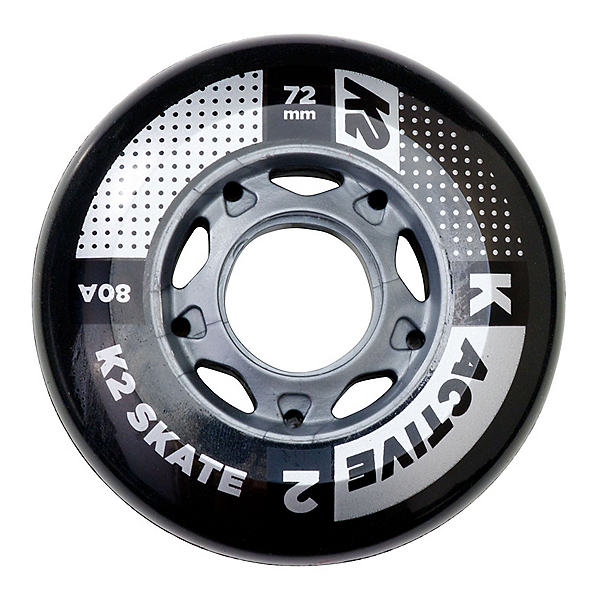 K2 72mm 80A Inline Skate Wheels - 4 Pack, , 600