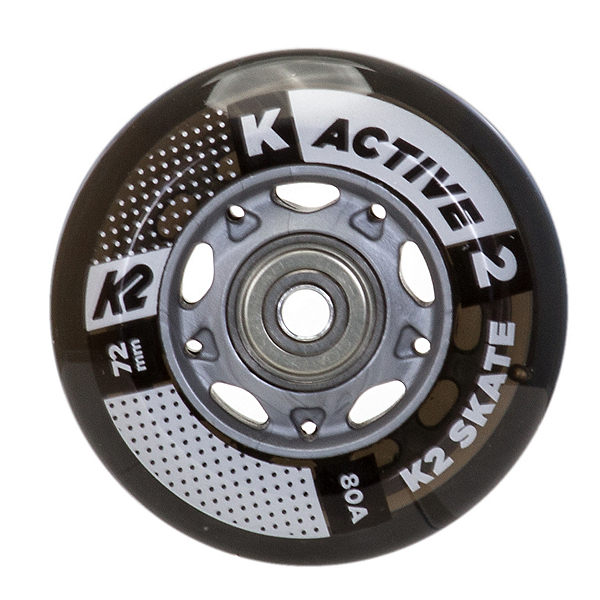 K2 72mm w/ ILQ 5 Alum Spacer Inline Skate Wheels with ILQ 5 Bearings - 8 Pack 2019, , 600