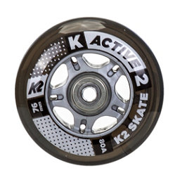 K2 76mm Inline Skate Wheels with ILQ5 Bearings - 8 Pack 2017, , 256