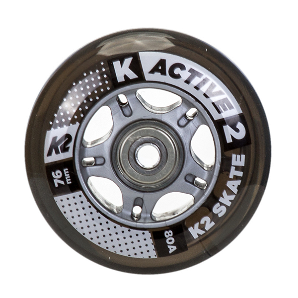 K2 76mm Inline Skate Wheels with ILQ5 Bearings - 8 Pack 2020, , 600