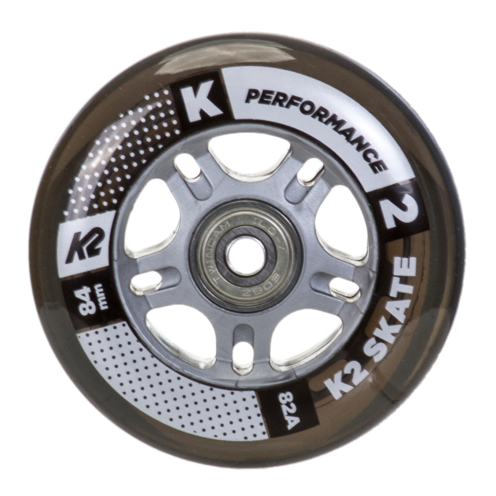 K2 84mm Inline Skate Wheels with ILQ7 Bearings - 8 Pack 2020 im test