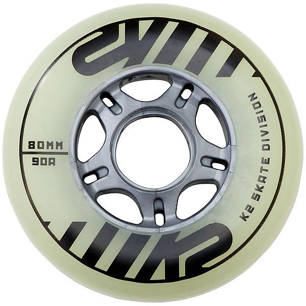 K2 Urban Glow 80mm 90A Inline Skate Wheels - 4 Pack 2020, , 600