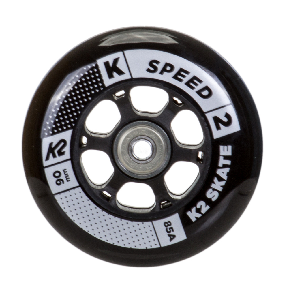 K2 90mm Inline Skate Wheels with ILQ9 Bearings - 8 Pack 2020 im test