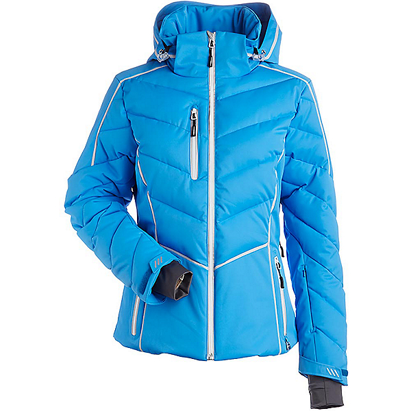 NILS Florence Womens Insulated Ski Jacket, Glacier Blue-Silver, 600