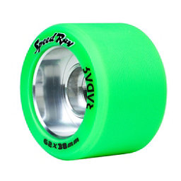 Riedell Speed Ray - 4 Pack Roller Skate Wheels 2017, Green, 256