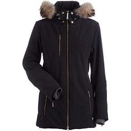 NILS Maribel Real Fur Womens Insulated Ski Jacket, Black, 256