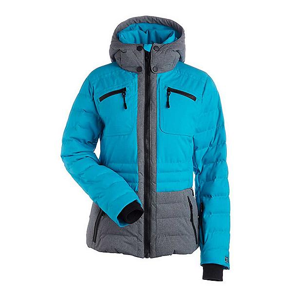 NILS Brook Womens Insulated Ski Jacket, Light Teal-Dark Texture, 600