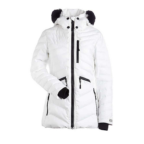 NILS Charlotte w/Faux Fur Womens Insulated Ski Jacket, White, 600
