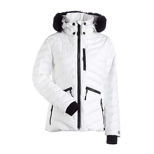 NILS Alexandra w/Faux Fur Womens Insulated Ski Jacket, White, 600