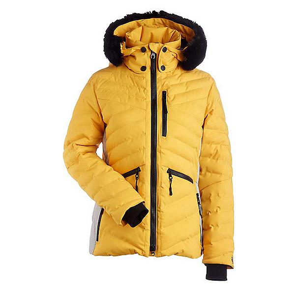 NILS Alex w/Faux Fur Womens Insulated Ski Jacket, Cornsilk-Light Texture, 600