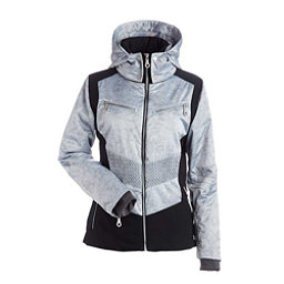 NILS Penny Womens Insulated Ski Jacket, Silver Mist Print-Black, 256