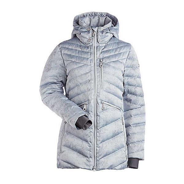 NILS Raina Print Womens Insulated Ski Jacket, Silver Mist Print, 600