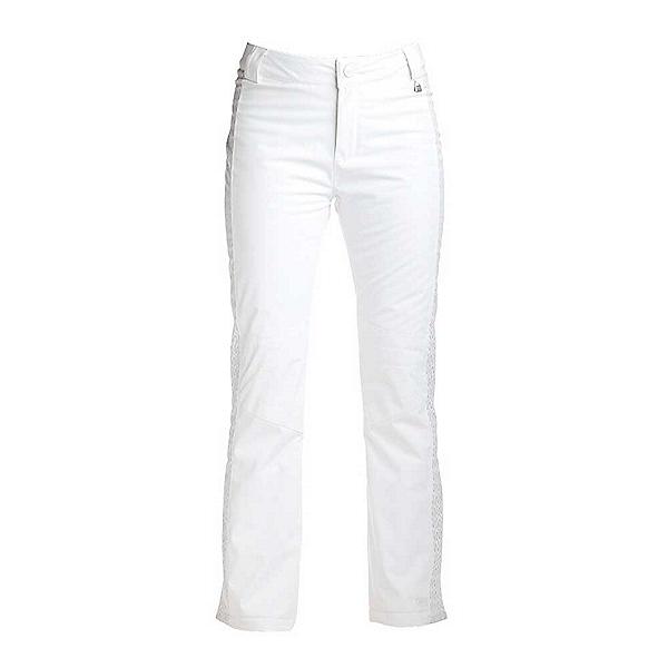 NILS Dominique Special Edition Womens Ski Pants, White-Metallic Silver Velocity, 600