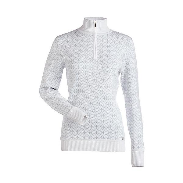 NILS Maddison Womens Sweater, White-Metallic Silver, 600