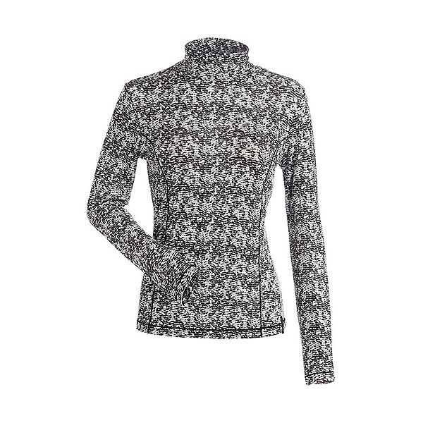 NILS Danielle Print Womens Long Underwear Top, Black-White Turbulence Print, 600