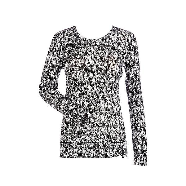 NILS Erica Printed Womens Long Underwear Top, Black-White Turbulence Print, 600
