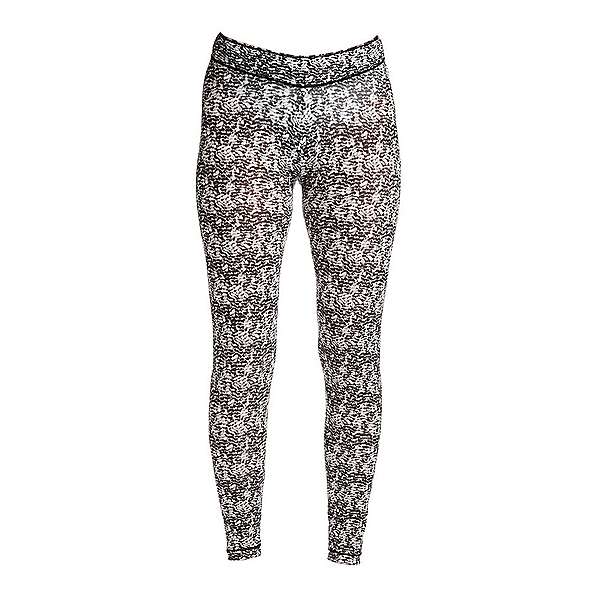NILS Blaine Print Legging Womens Long Underwear Pants, Black-White Turbulence Print, 600