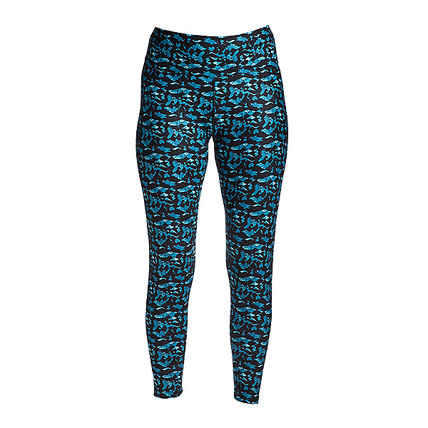 NILS Jenni Roc and Candy Print Leggings Womens Long Underwear Pants, Teal Roc Candy Print, 600