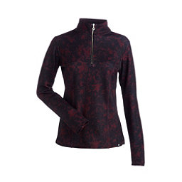NILS Robin Print Womens Long Underwear Top, Cabernet Winter Winds Print, 256