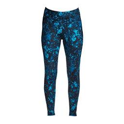 NILS Lindsay Print Leggings Womens Long Underwear Pants, Dark Teal Winter Winds Print, 256
