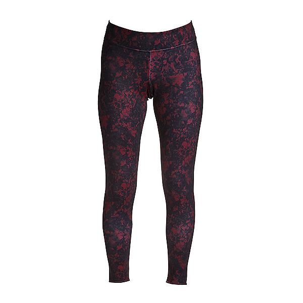 NILS Lindsay Print Leggings Womens Long Underwear Pants, Cabernet Winter Winds Print, 600
