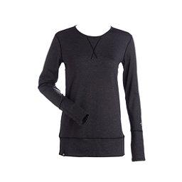 NILS Piper Womens Long Underwear Top, Charcoal-Black, 256