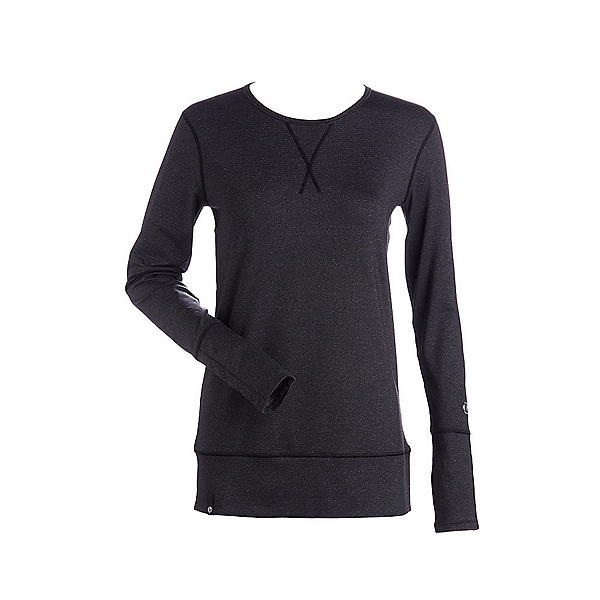 NILS Piper Womens Long Underwear Top, Charcoal-Black, 600