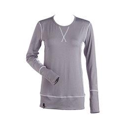 NILS Piper Womens Long Underwear Top, Silver-White, 256