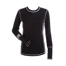 NILS Sally Womens Long Underwear Top, Black-Charcoal-White, 256