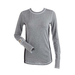 NILS Sally Womens Long Underwear Top, Silver-Charcoal-White, 256
